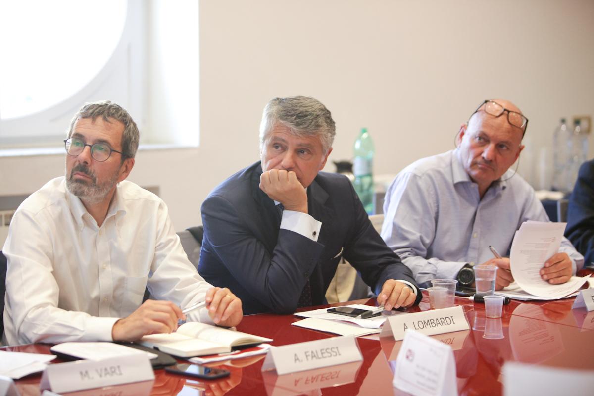 Andrea Falessi, Antongiulio Lombardi e Roberto Magnifico